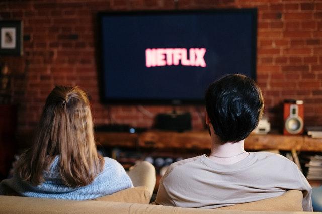 adults watching netflix