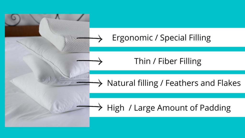Four types of pillows